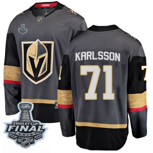 Men's Fanatics Branded Vegas Golden Knights William Karlsson Gold Black Home 2018 Stanley Cup Final Patch Jersey - Breakaway