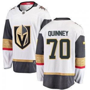 Youth Fanatics Branded Vegas Golden Knights Gage Quinney Gold White Away Jersey - Breakaway
