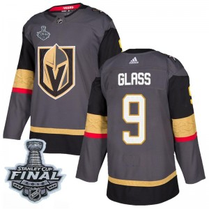 Men's Adidas Vegas Golden Knights Cody Glass Gold Gray Home 2018 Stanley Cup Final Patch Jersey - Authentic