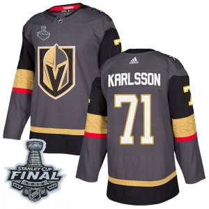 Men's Adidas Vegas Golden Knights William Karlsson Gold Gray Home 2018 Stanley Cup Final Patch Jersey - Authentic