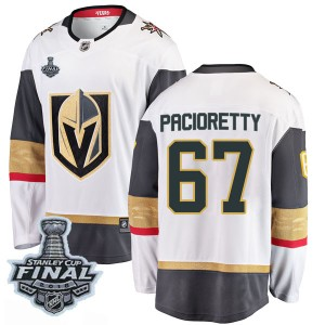 Youth Fanatics Branded Vegas Golden Knights Max Pacioretty Gold White Away 2018 Stanley Cup Final Patch Jersey - Breakaway